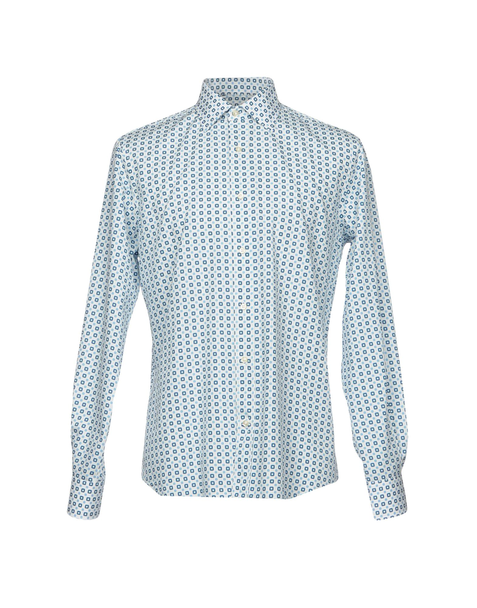 LUCHINO CAMICIE Patterned Shirt in White