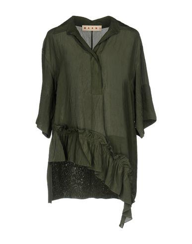 Купить Женскую блузку  цвет зеленый-милитари