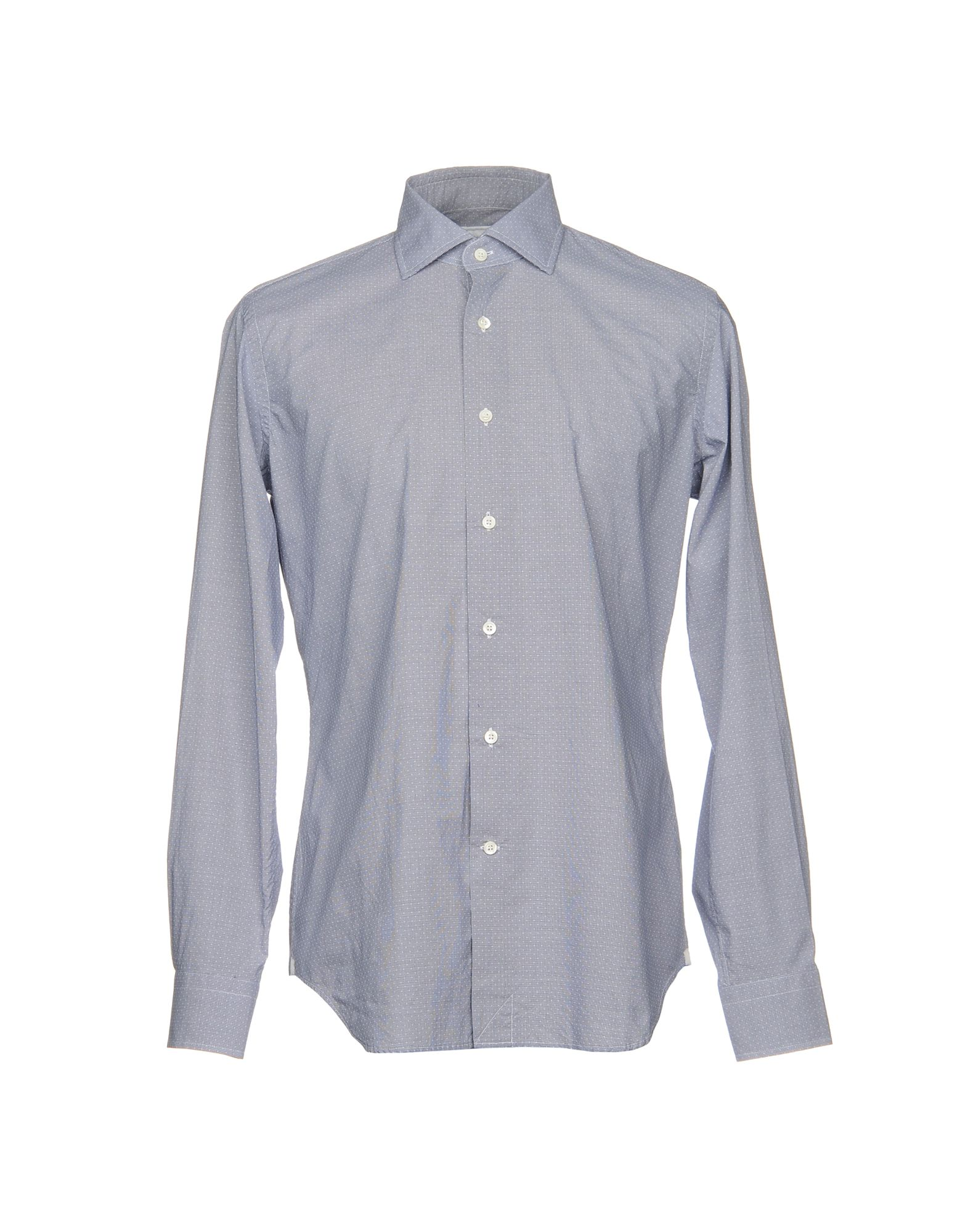 LEXINGTON Patterned Shirt in Slate Blue