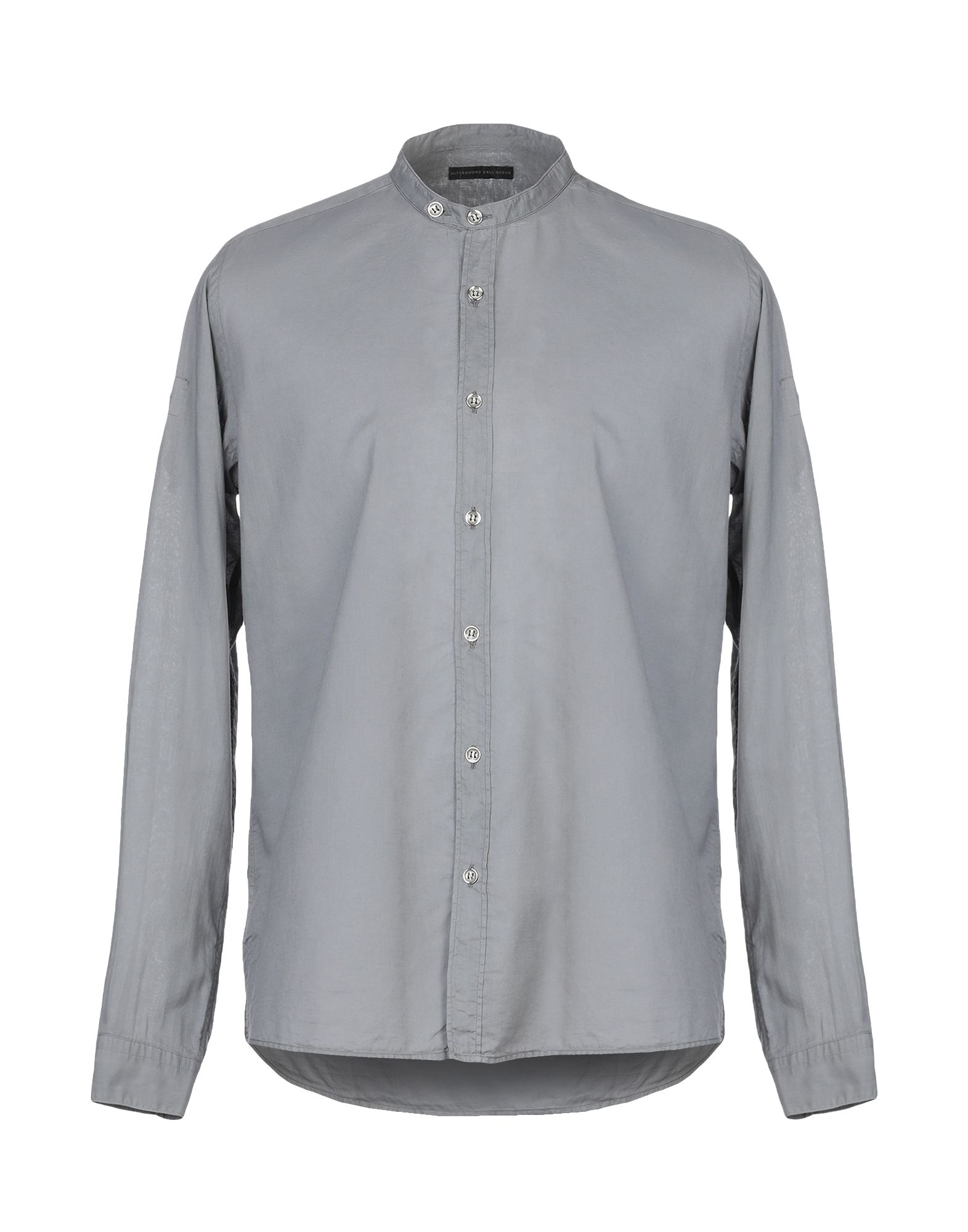 《セール開催中》ALESSANDRO DELL'ACQUA メンズ シャツ グレー 41 コットン 100%