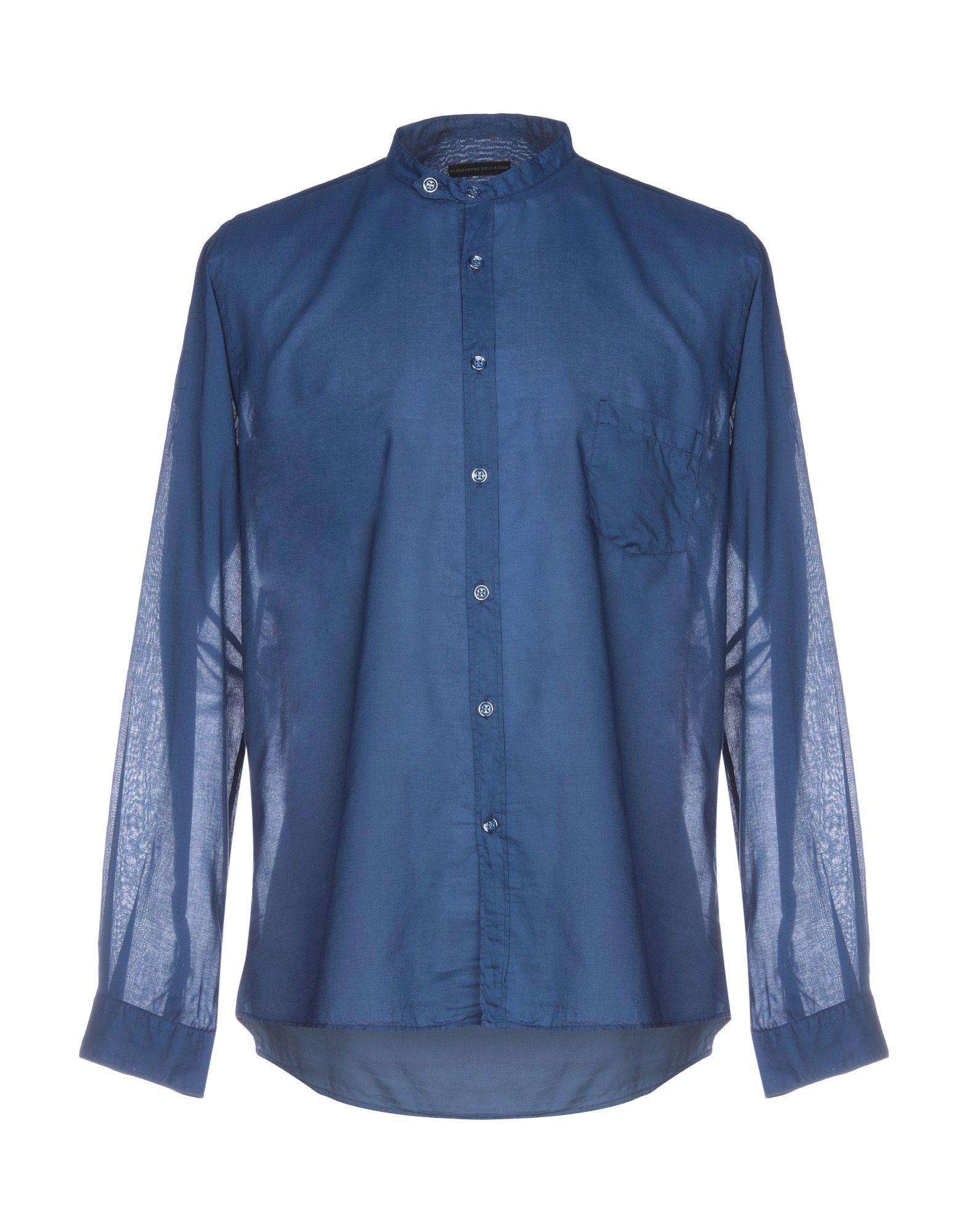 《送料無料》ALESSANDRO DELL'ACQUA メンズ シャツ ブルー 43 コットン 100%