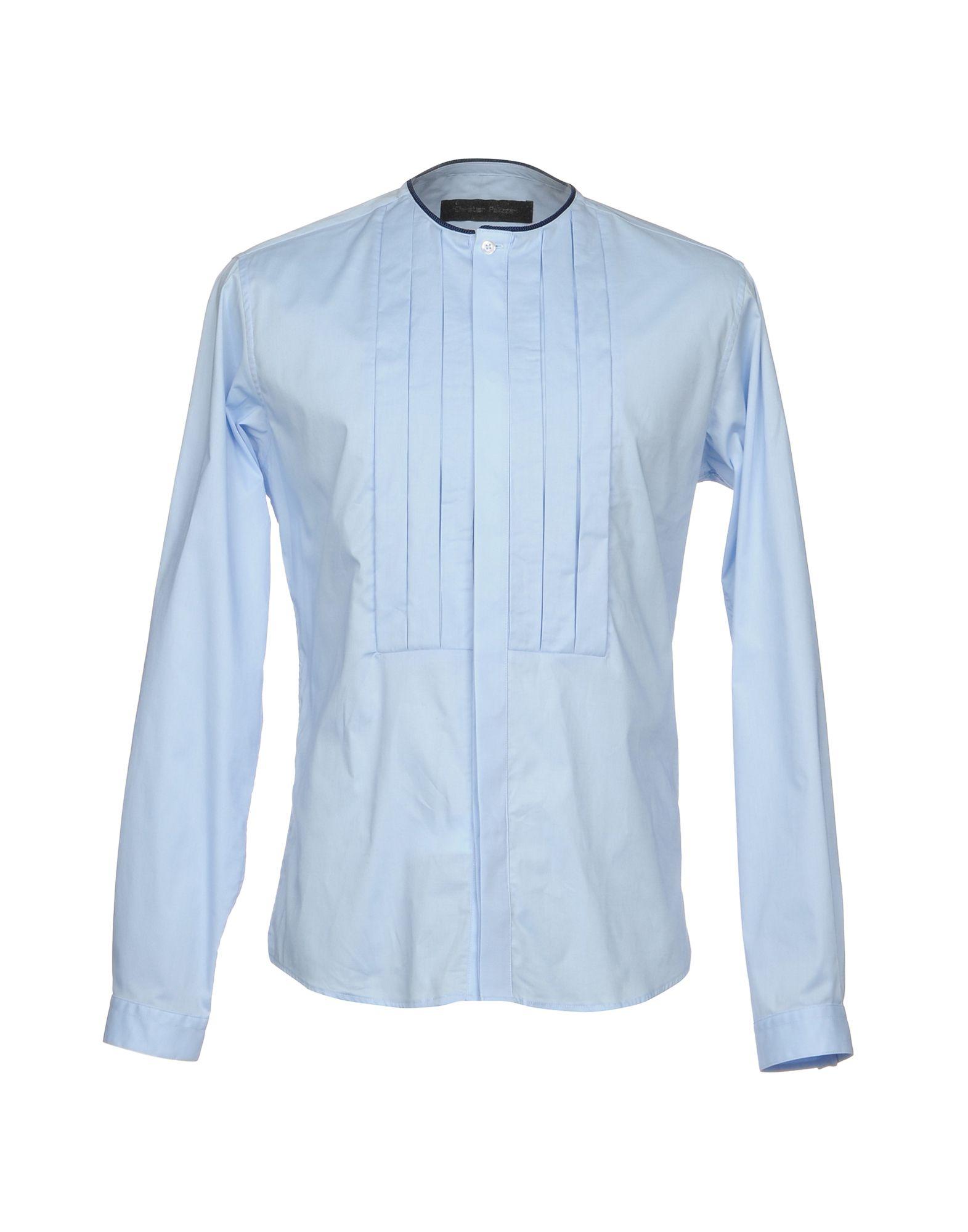 CHRISTIAN PELLIZZARI Herren Hemd Farbe Himmelblau Größe 4