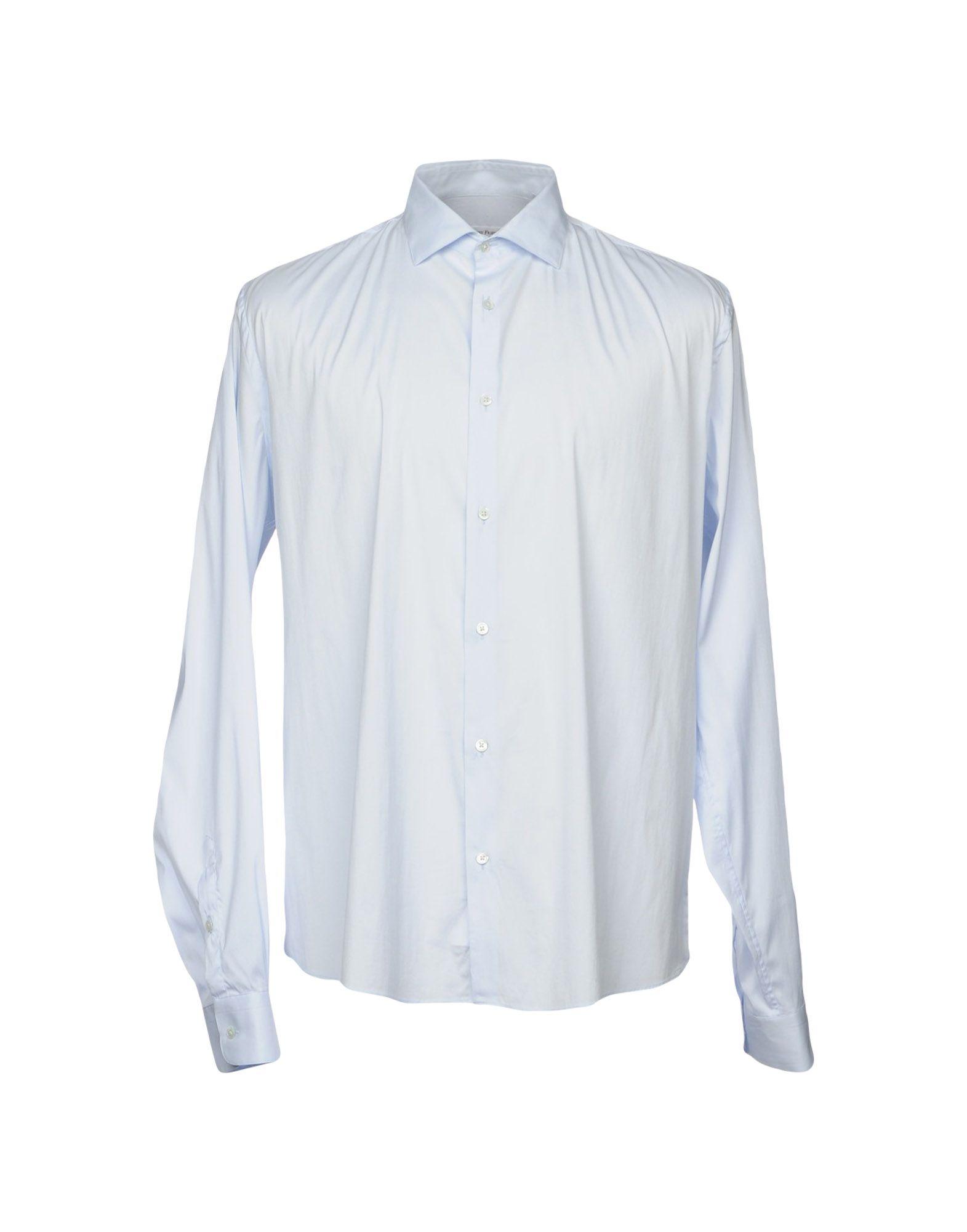 ROBERT FRIEDMAN Solid Color Shirt in Sky Blue