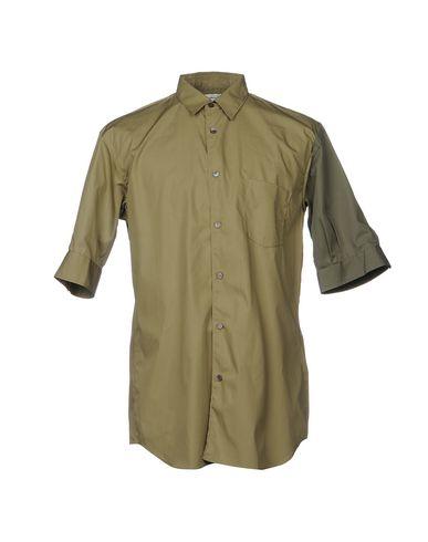 Фото - Pубашка цвет зеленый-милитари