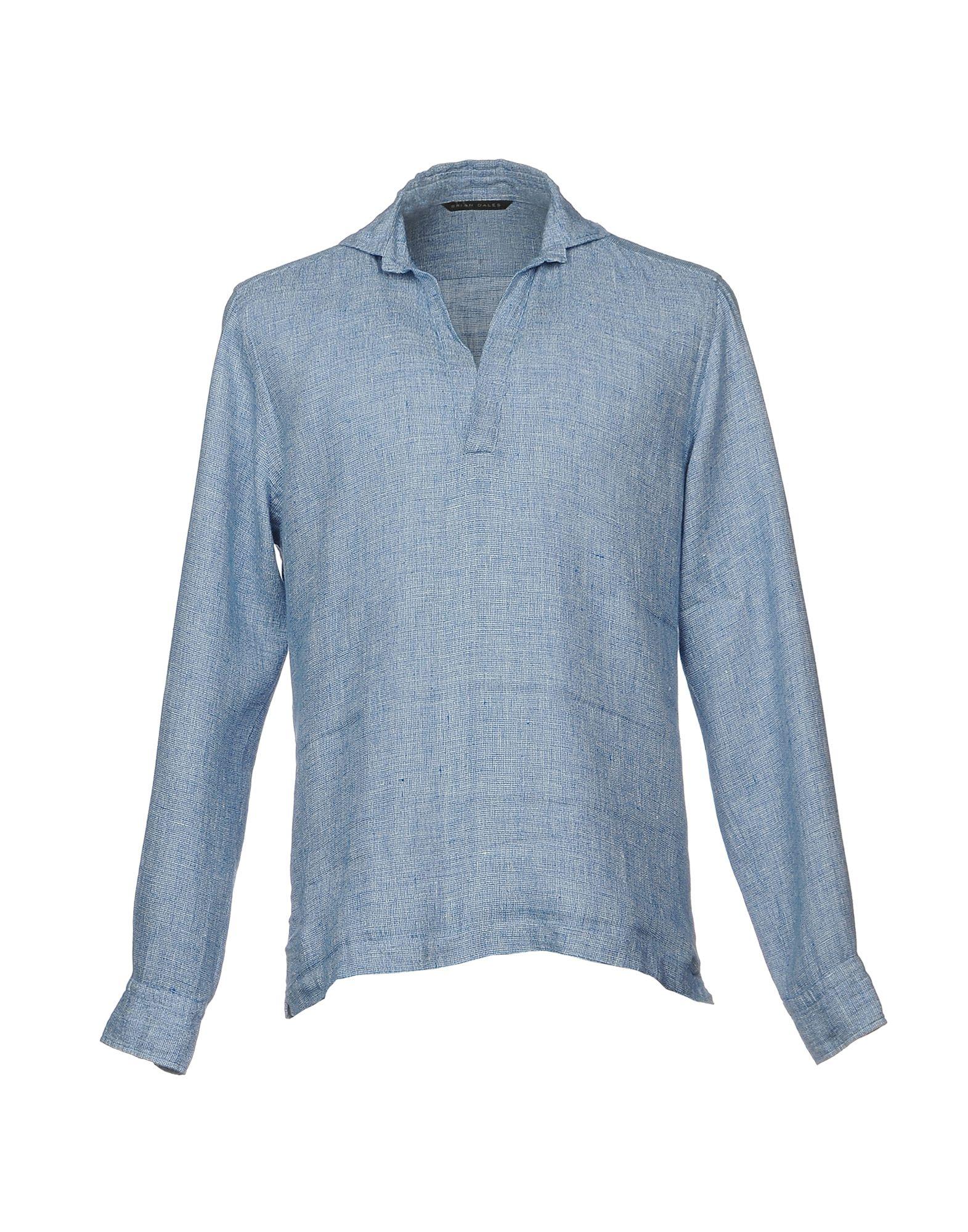 BRIAN DALES Herren Hemd Farbe Himmelblau Größe 4