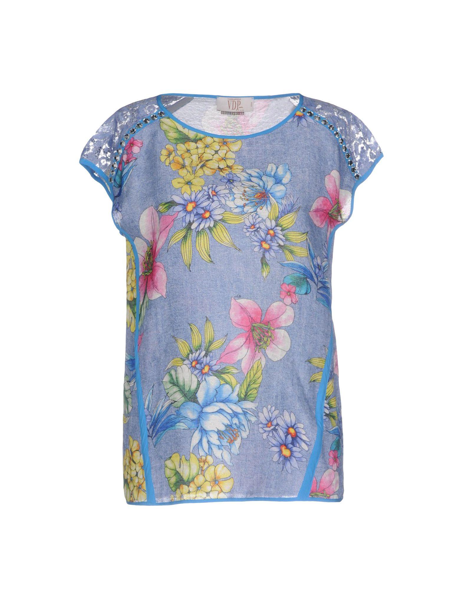 VDP CLUB Damen Bluse Farbe Azurblau Größe 4