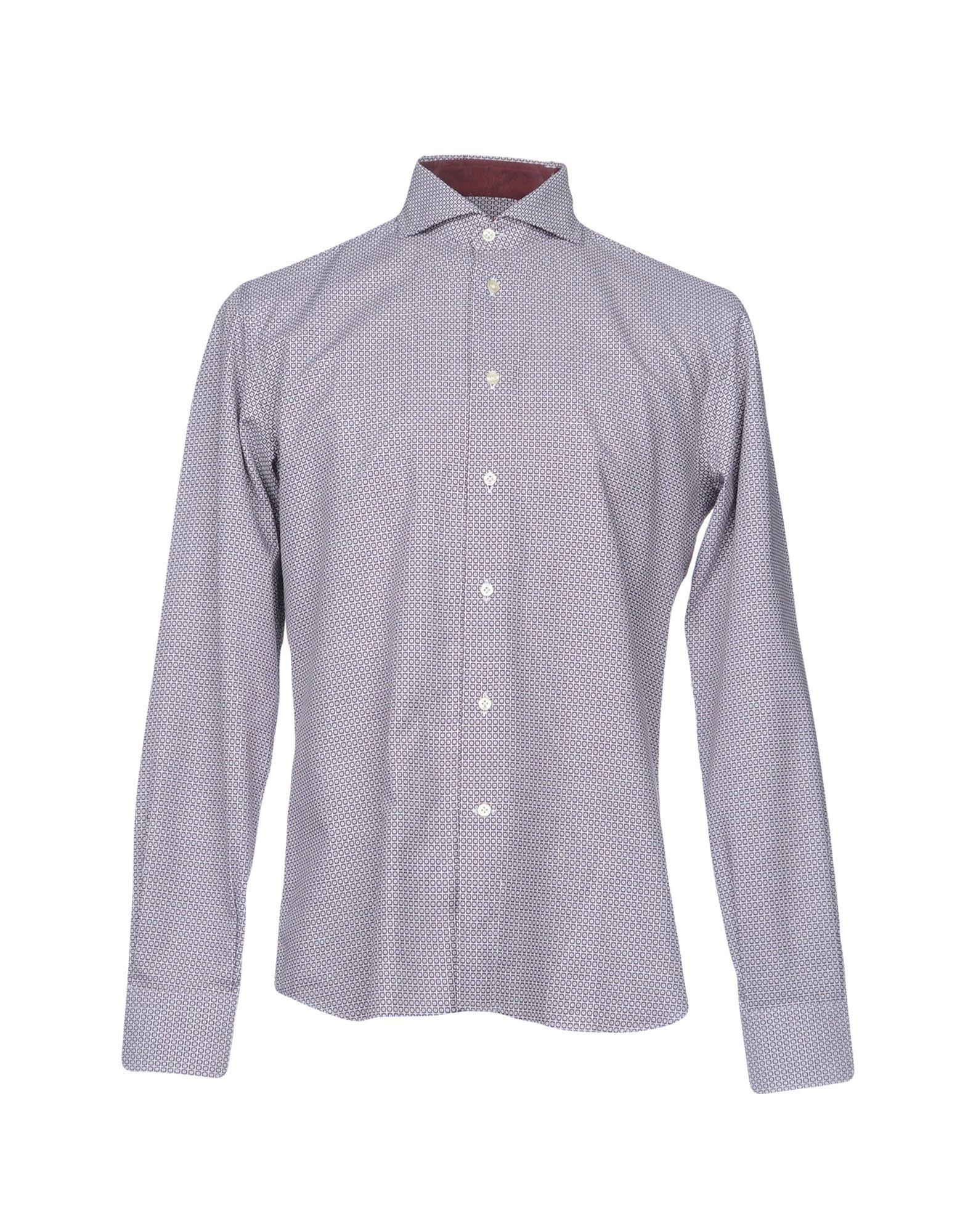 《セール開催中》ALEX DORIANI メンズ シャツ ディープパープル 41 コットン 100%