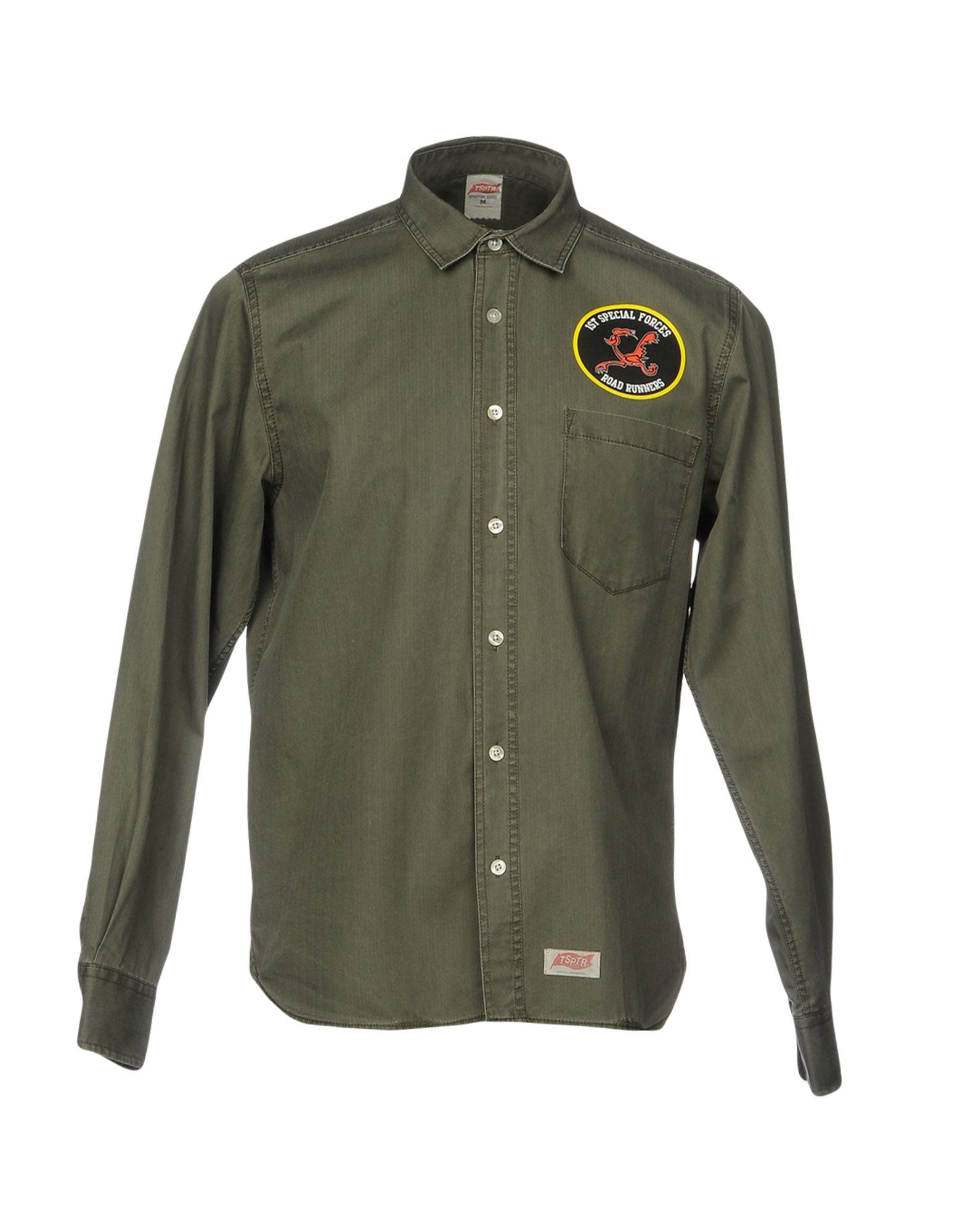 TSPTR Solid Color Shirt in Military Green