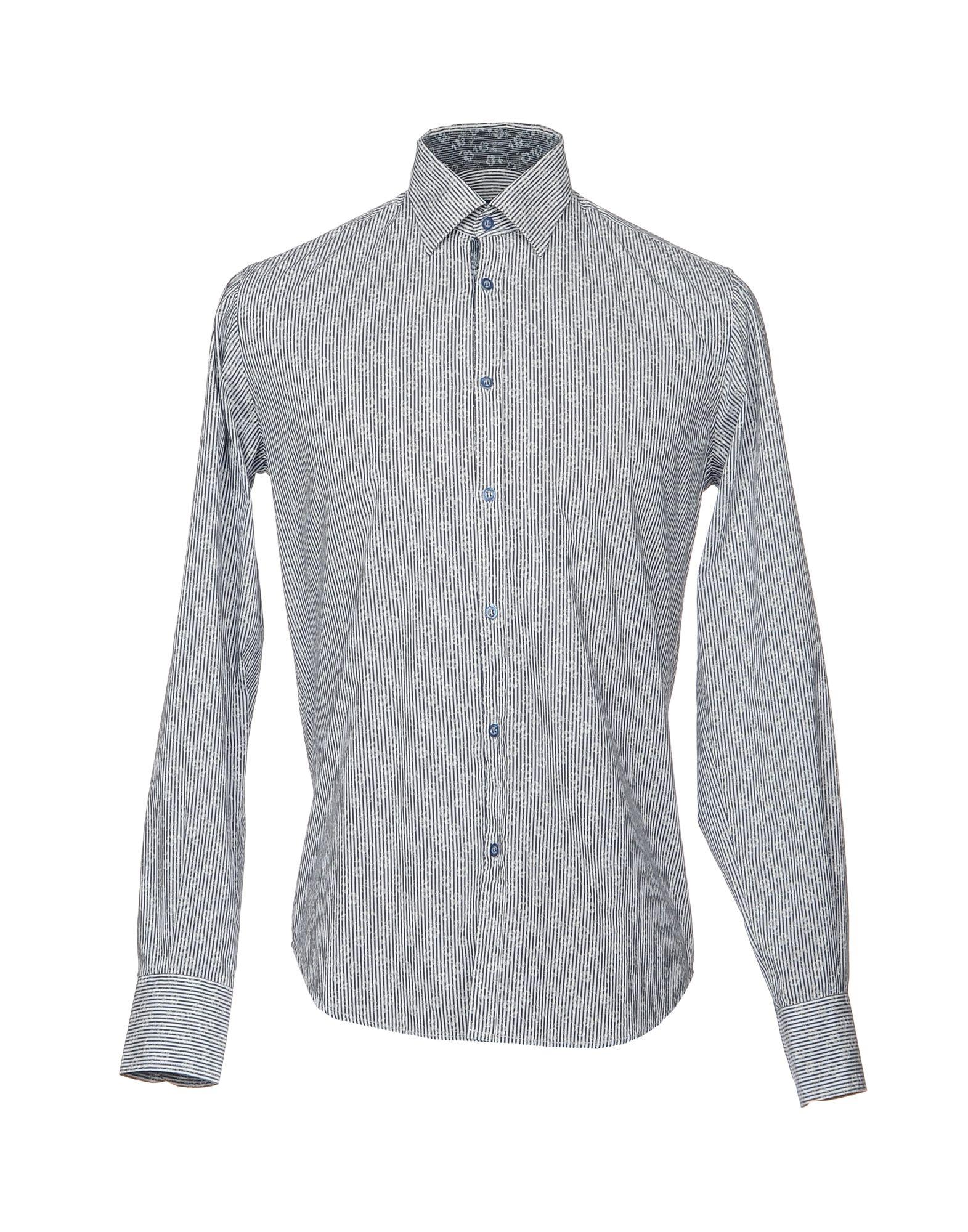 《セール開催中》DIMATTIA メンズ シャツ グレー 39 コットン 100%