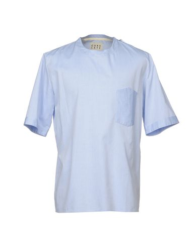 Фото - Pубашка от CORELATE небесно-голубого цвета