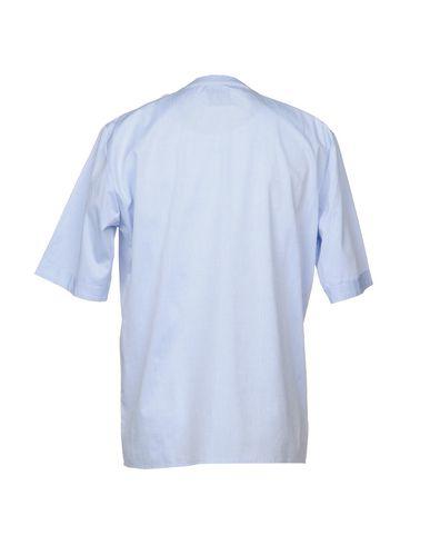 Фото 2 - Pубашка от CORELATE небесно-голубого цвета