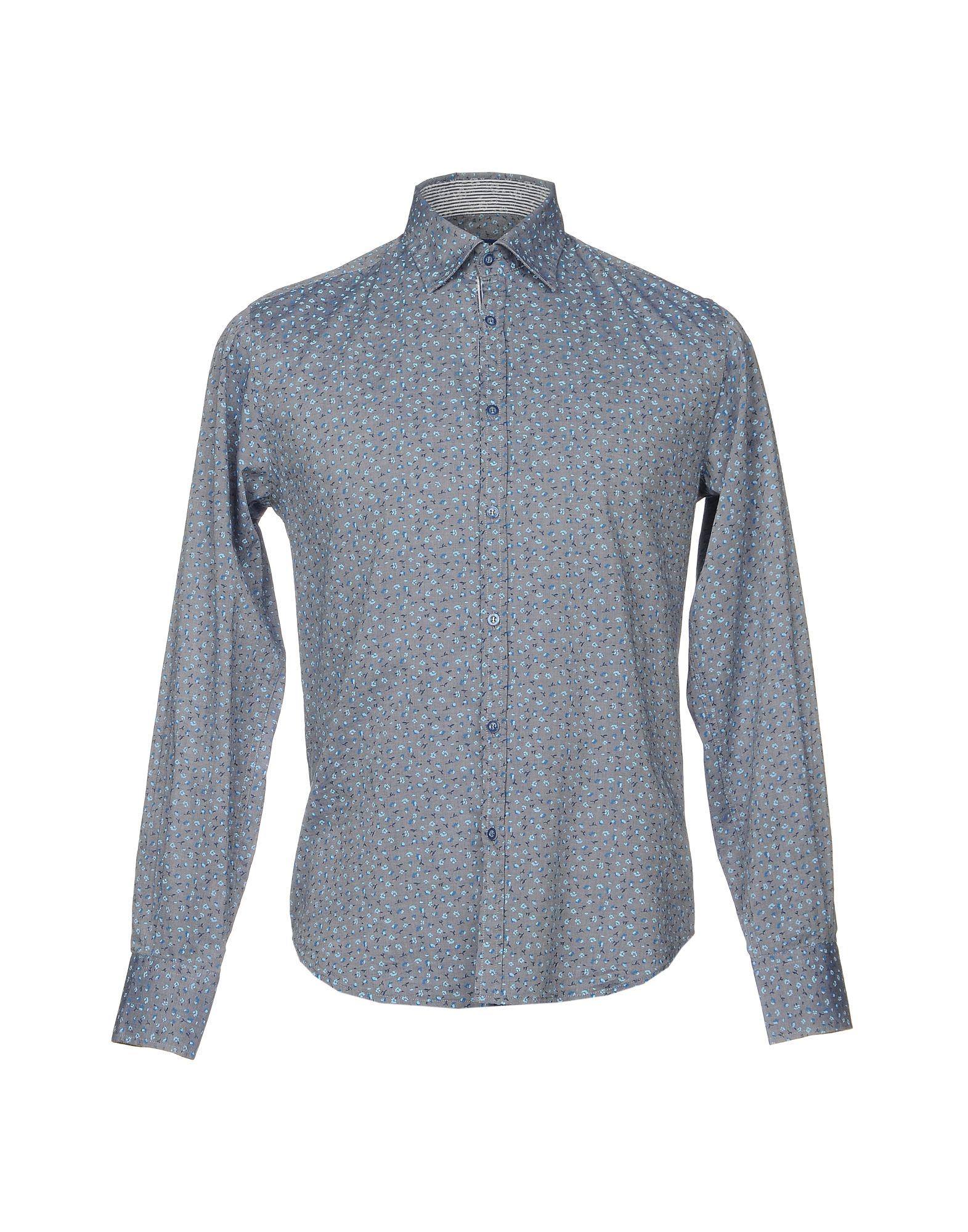 《期間限定 セール開催中》DIMATTIA メンズ シャツ ブルー 39 コットン 100%