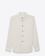 SAINT LAURENT Camicie Casual U Oversized shirt in off-white ethnic jacquard f