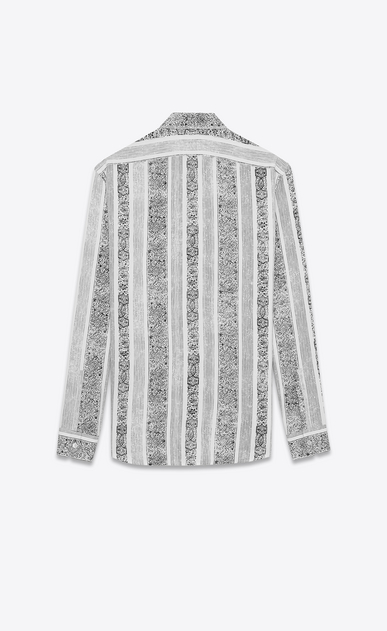 SAINT LAURENT Casual Shirts Man Yves-neck shirt in bandana-printed white viscose b_V4