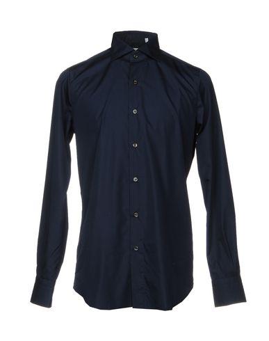 Фото - Pубашка от FINAMORE 1925 темно-синего цвета
