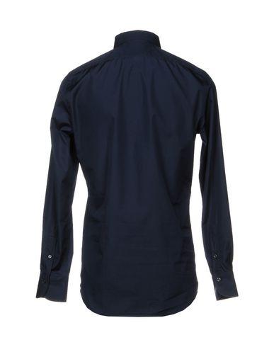 Фото 2 - Pубашка от FINAMORE 1925 темно-синего цвета