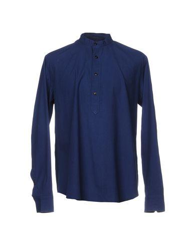 Фото - Pубашка от SALVATORE PICCOLO синего цвета