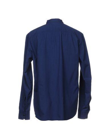 Фото 2 - Pубашка от SALVATORE PICCOLO синего цвета
