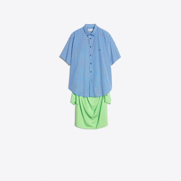 Tシャツ コンビ ショートスリーブ シャツ