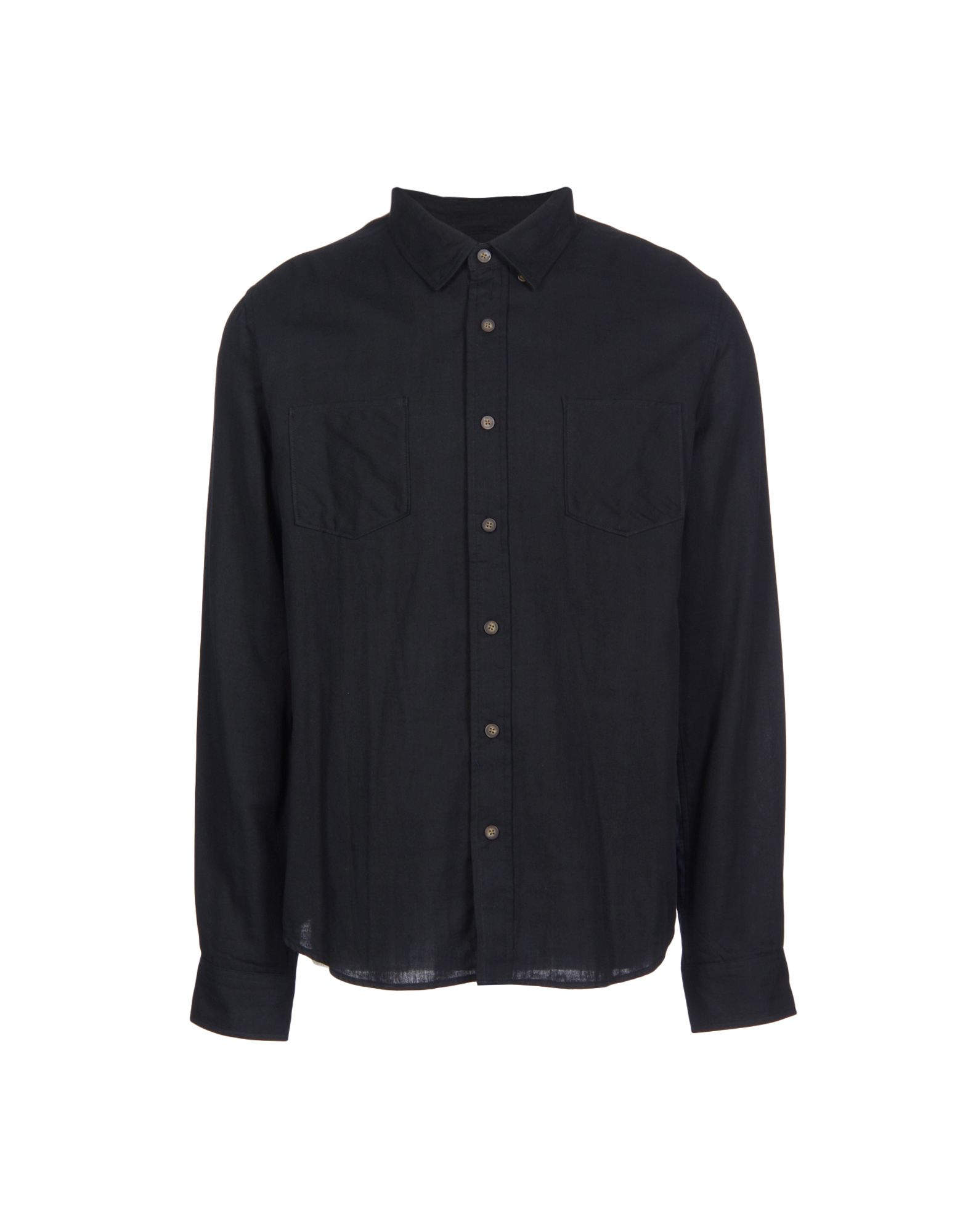 BLACK SCALE Solid Color Shirt in Black
