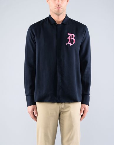 Фото 2 - Pубашка от BEYOND CLOSET x YOOX темно-синего цвета