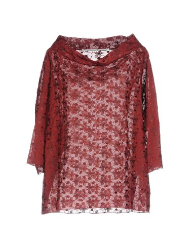 Фото - Женскую блузку MAISON LAVINIATURRA красно-коричневого цвета