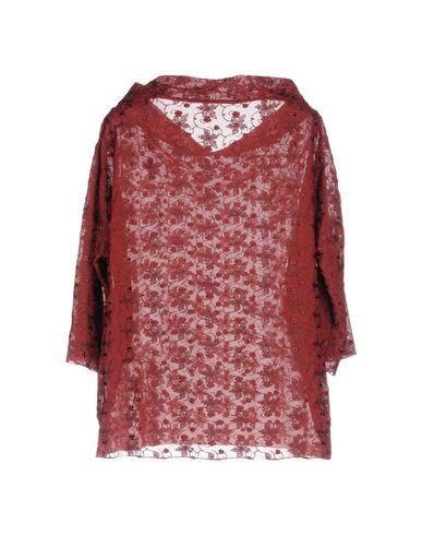 Фото 2 - Женскую блузку MAISON LAVINIATURRA красно-коричневого цвета