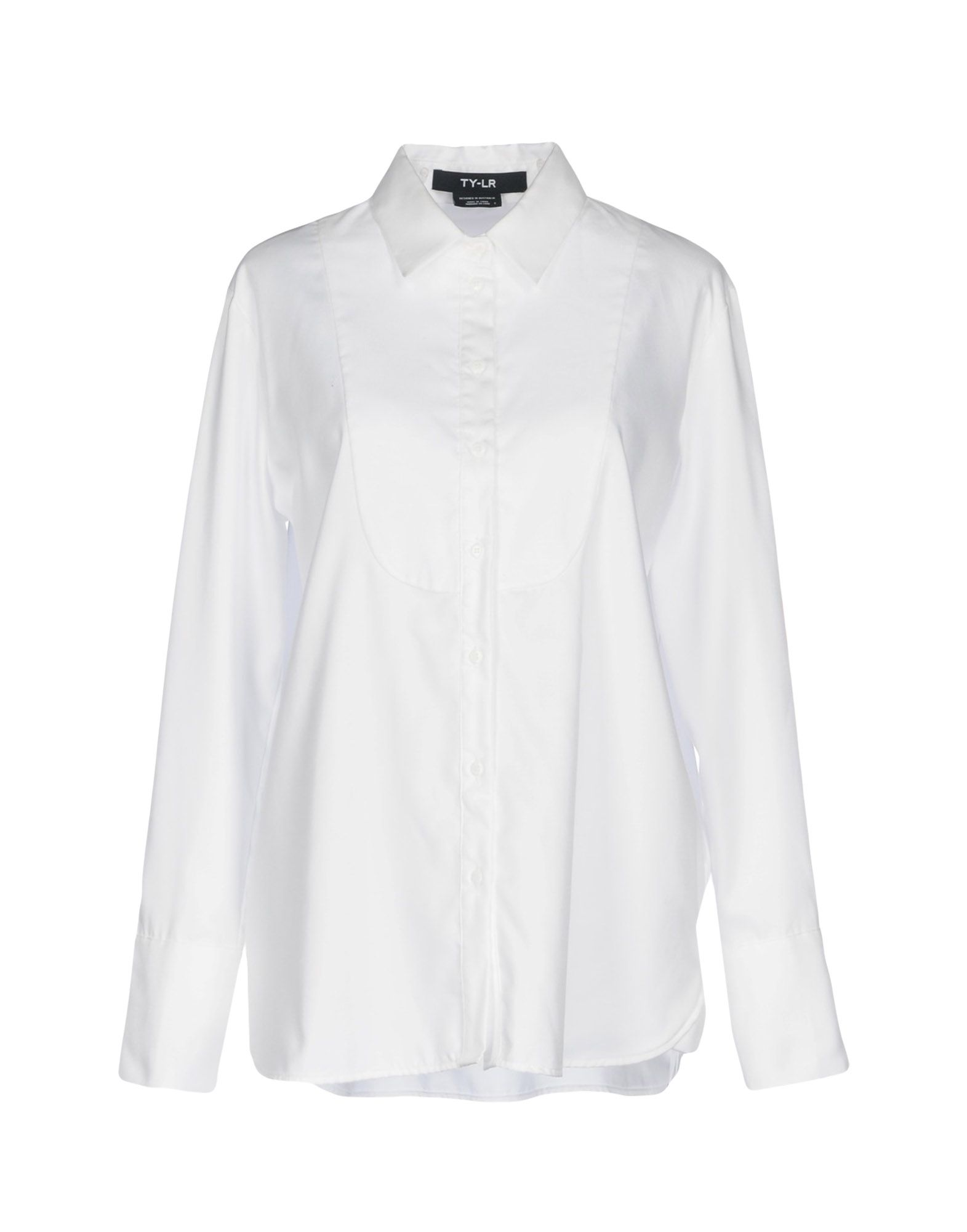 TY-LR Solid Color Shirts & Blouses in White