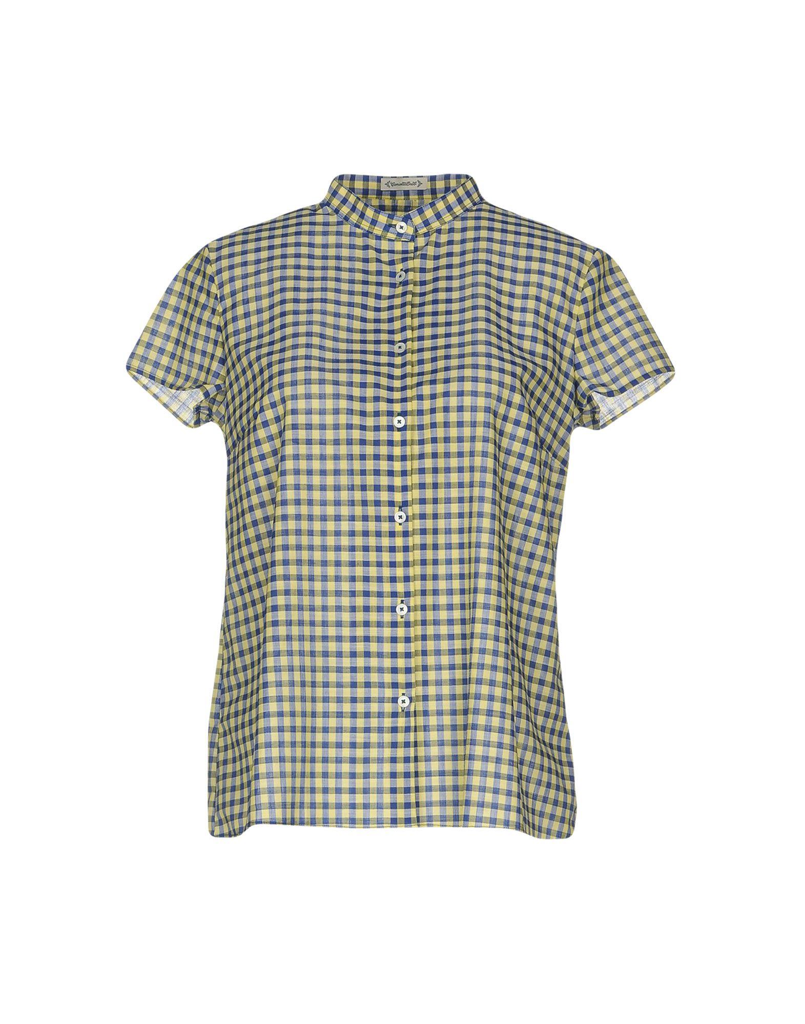 CAMICETTASNOB Damen Hemd Farbe Dunkelblau Größe 6