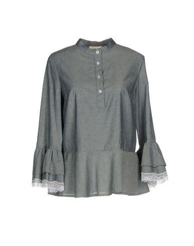 Фото - Женскую блузку  серого цвета