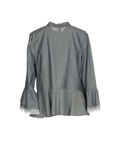 Фото 2 - Женскую блузку  серого цвета