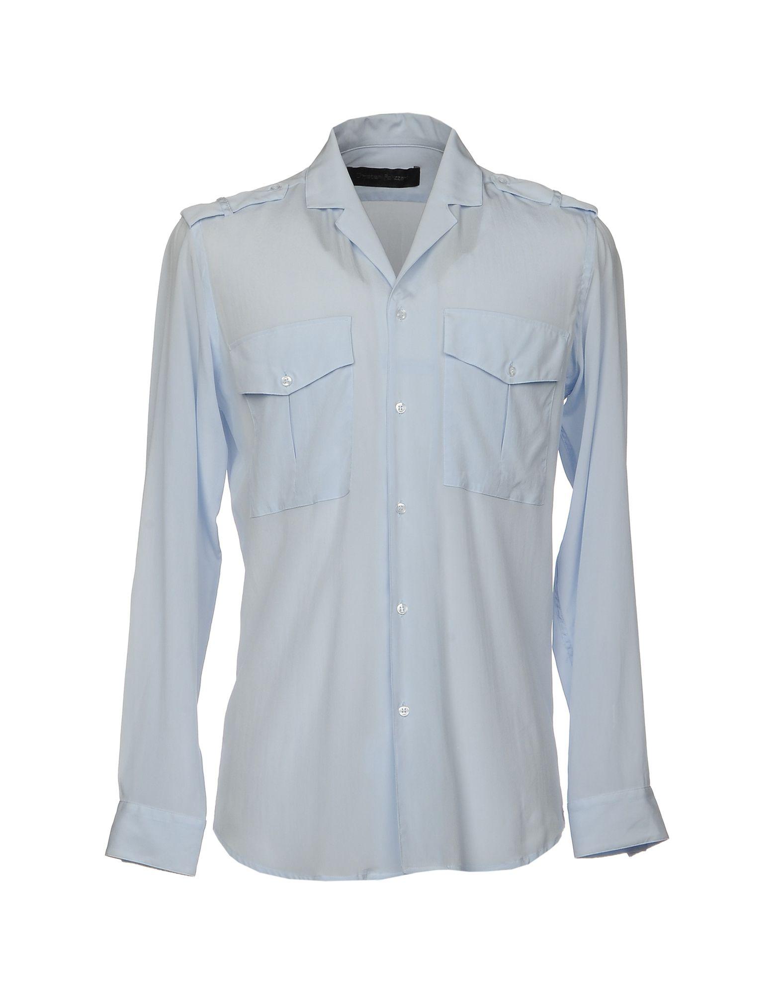 CHRISTIAN PELLIZZARI Herren Hemd Farbe Himmelblau Größe 2