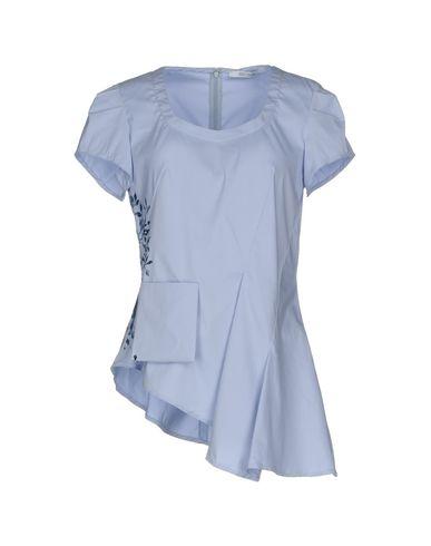 Фото - Женскую блузку OBLIQUE CREATIONS небесно-голубого цвета