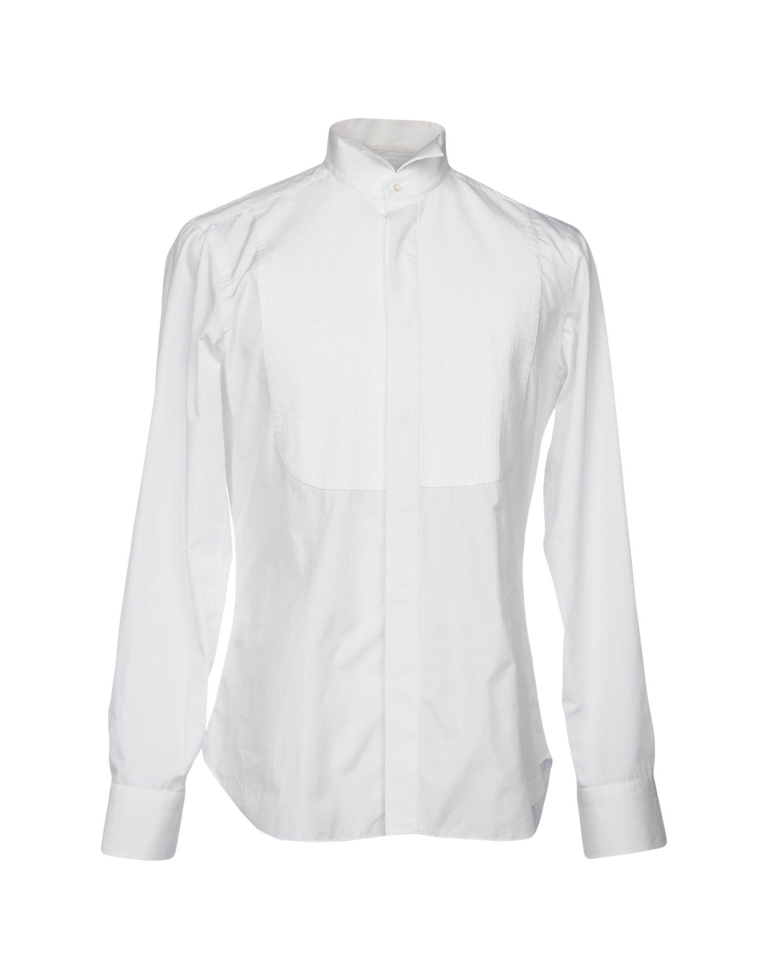 BARBA NAPOLI Solid Color Shirt in White