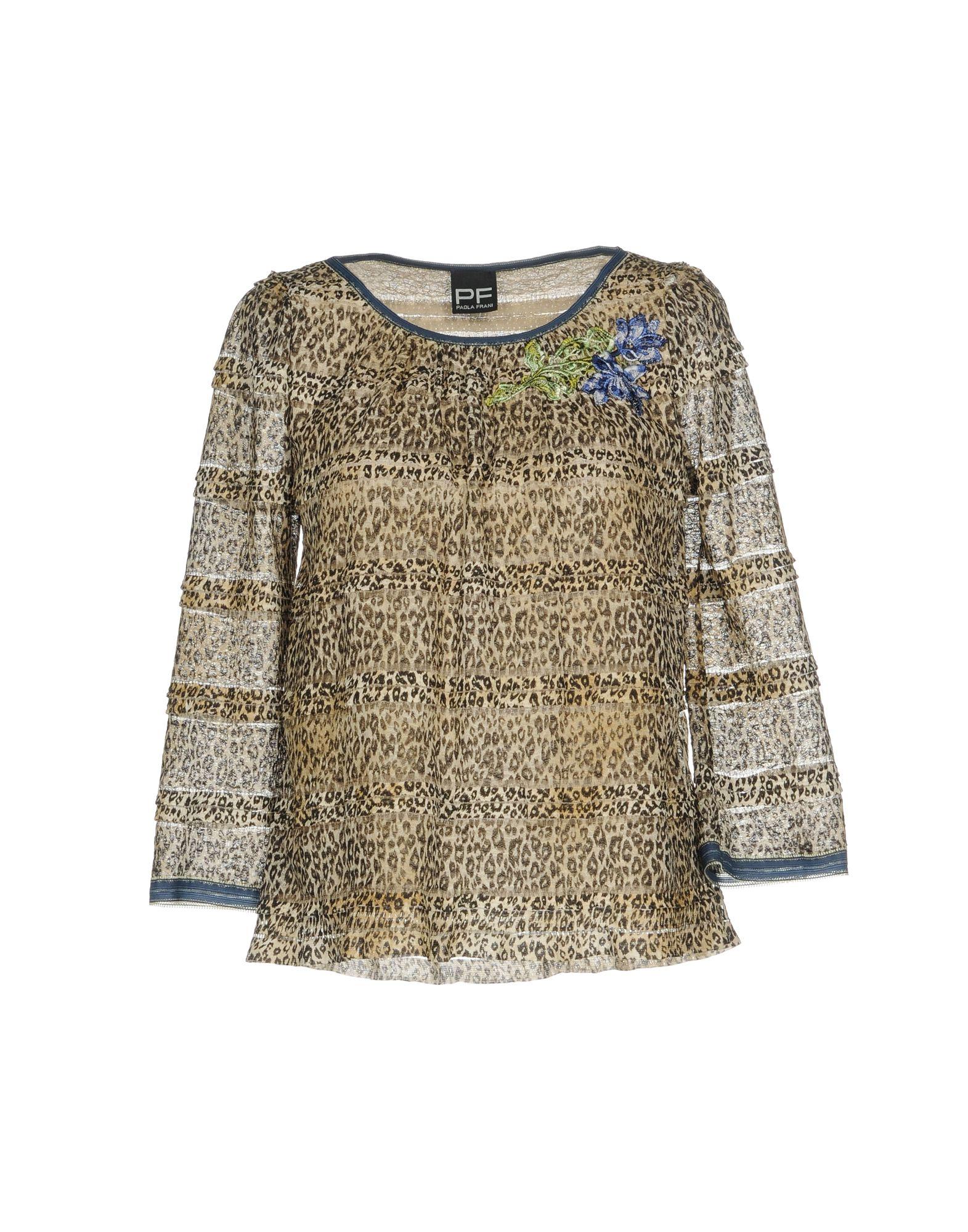 PF PAOLA FRANI Блузка блузка paola klingel цвет фиолетовый рисунок