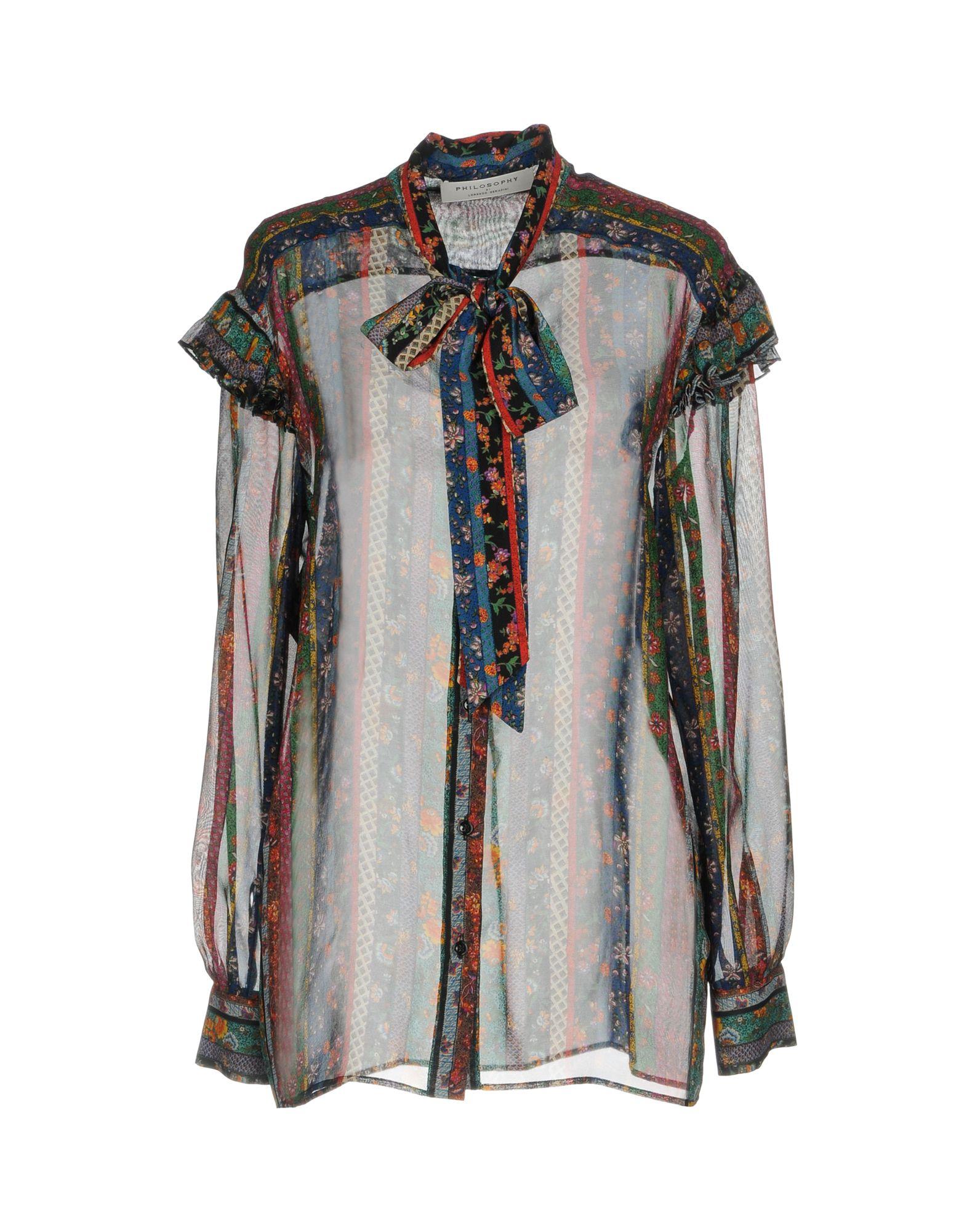 где купить  PHILOSOPHY di LORENZO SERAFINI Pубашка  по лучшей цене