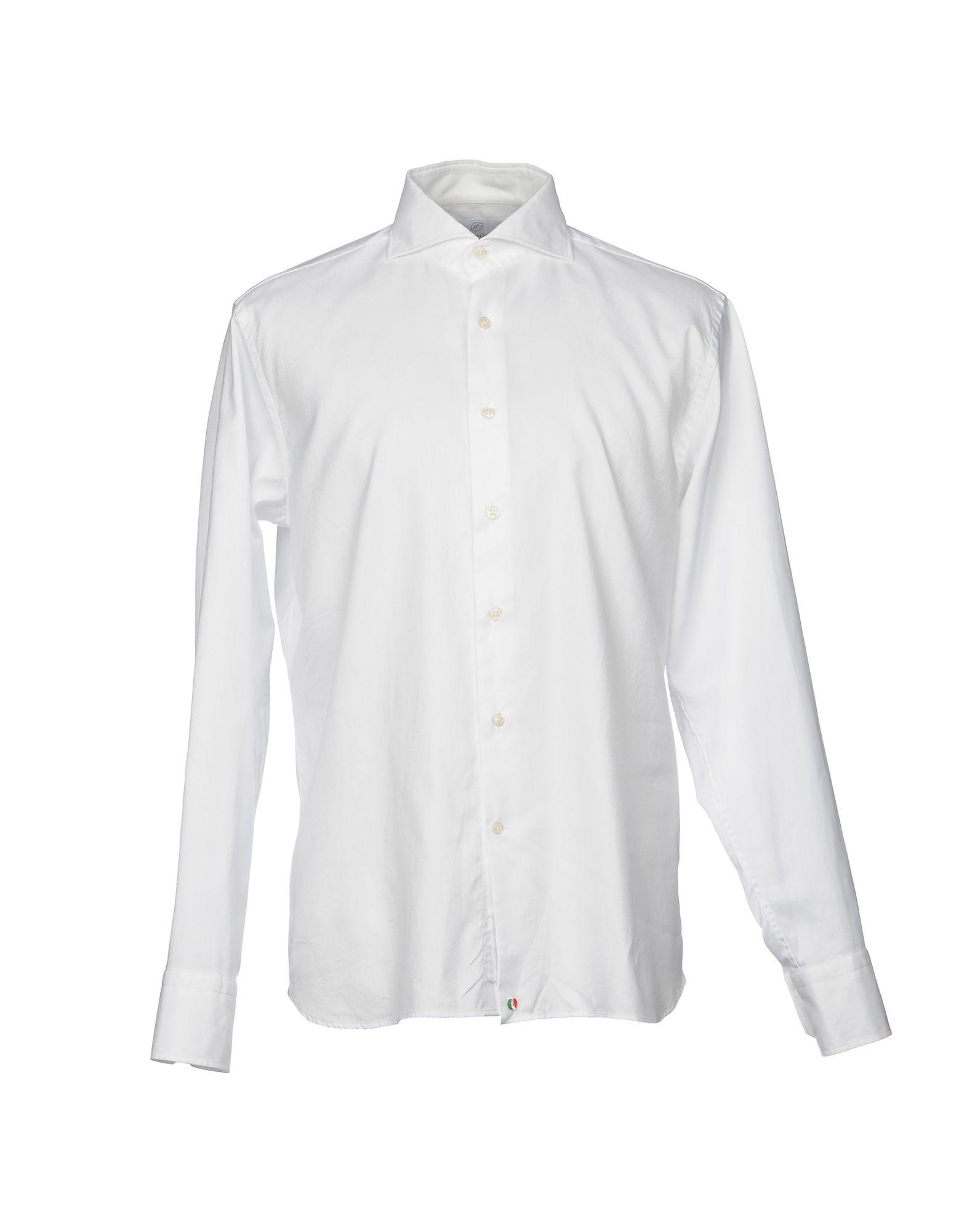 《送料無料》SHIRT FACTORY COLLECTION メンズ シャツ ホワイト 42 コットン 100%