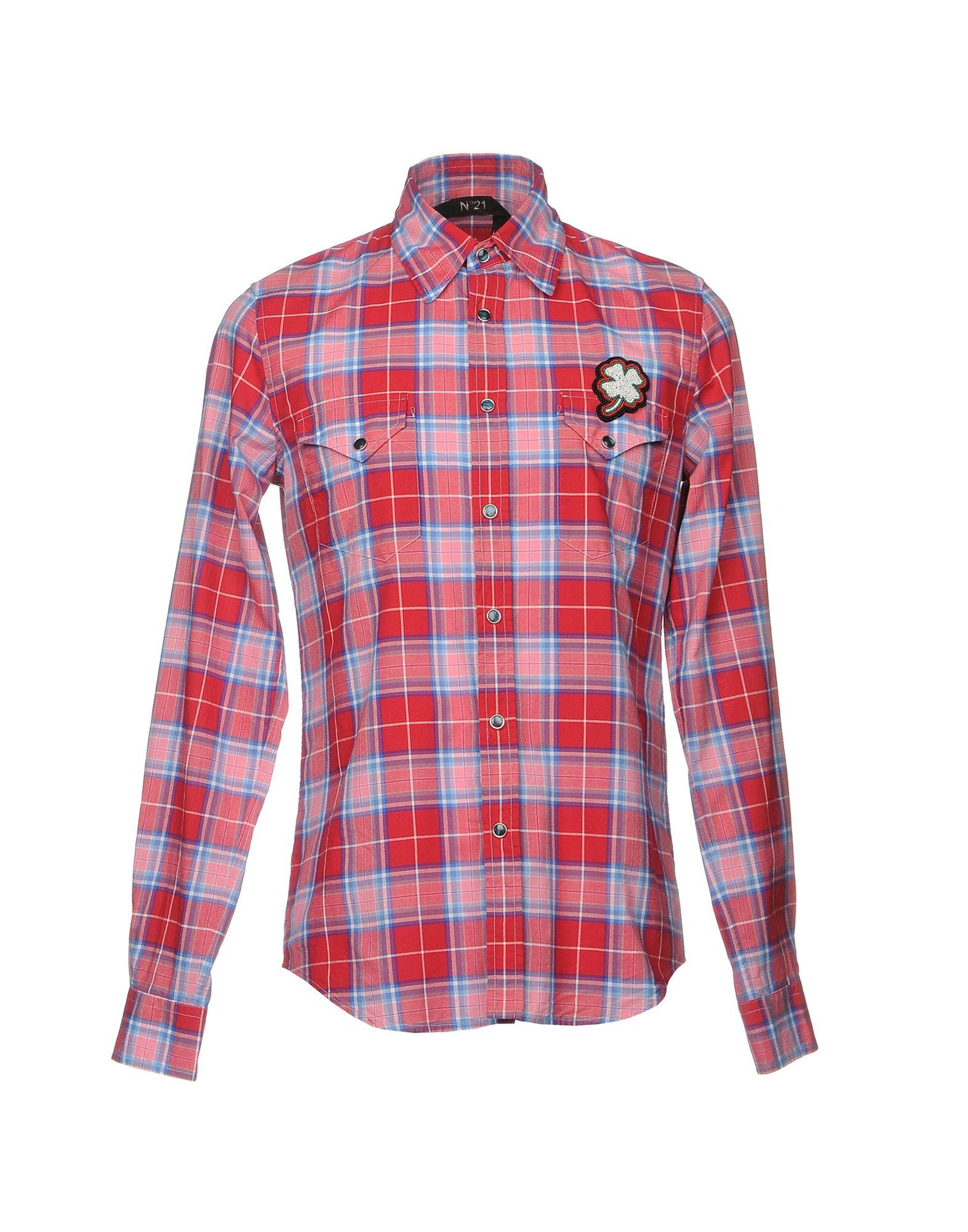 N° 21 Herren Hemd Farbe Rot Größe 6