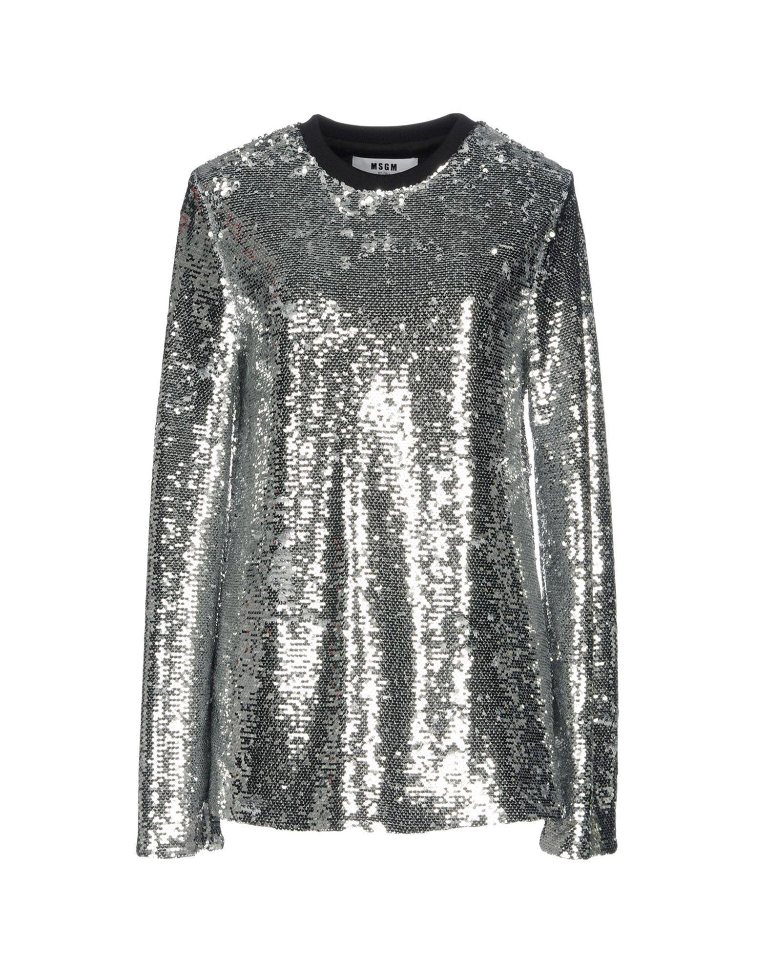 MSGM Damen Bluse Farbe Silber Größe 2