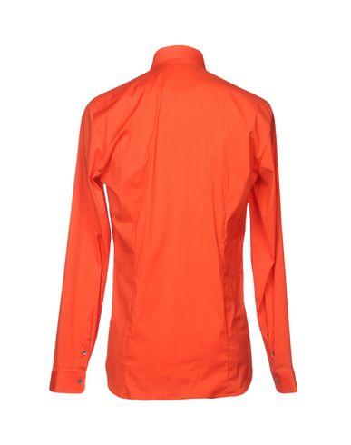 Фото 2 - Pубашка кораллового цвета
