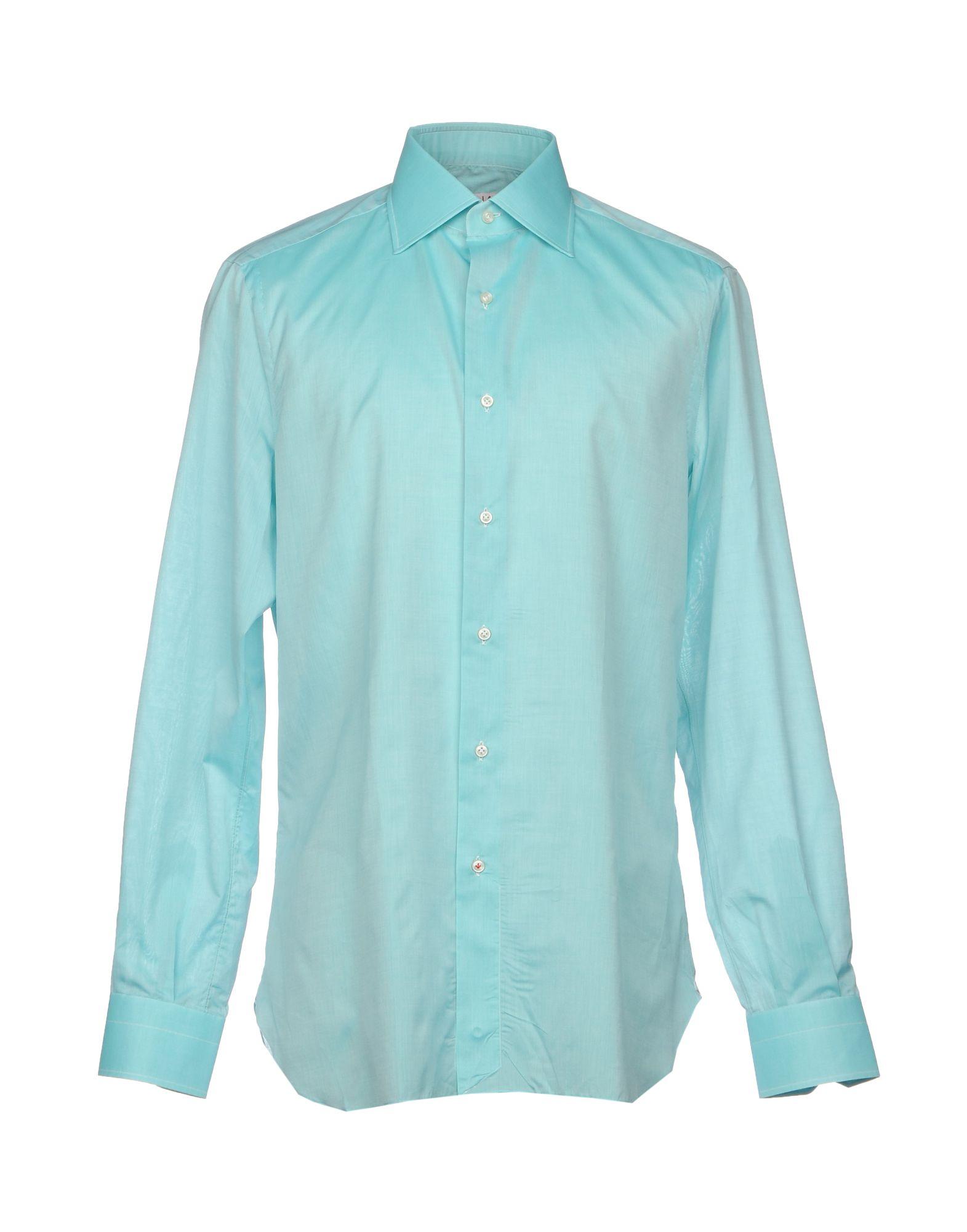 ISAIA Herren Hemd Farbe Säuregrün Größe 8