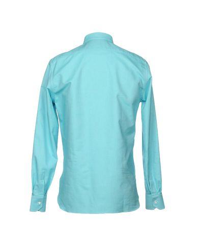 Фото 2 - Pубашка от MP MASSIMO PIOMBO бирюзового цвета