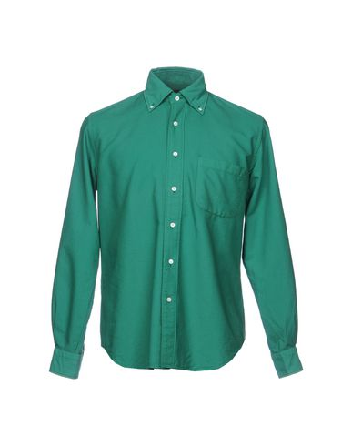 Фото - Pубашка от MP MASSIMO PIOMBO зеленого цвета