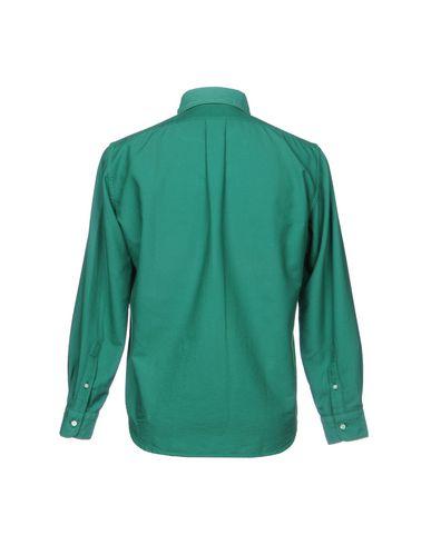 Фото 2 - Pубашка от MP MASSIMO PIOMBO зеленого цвета