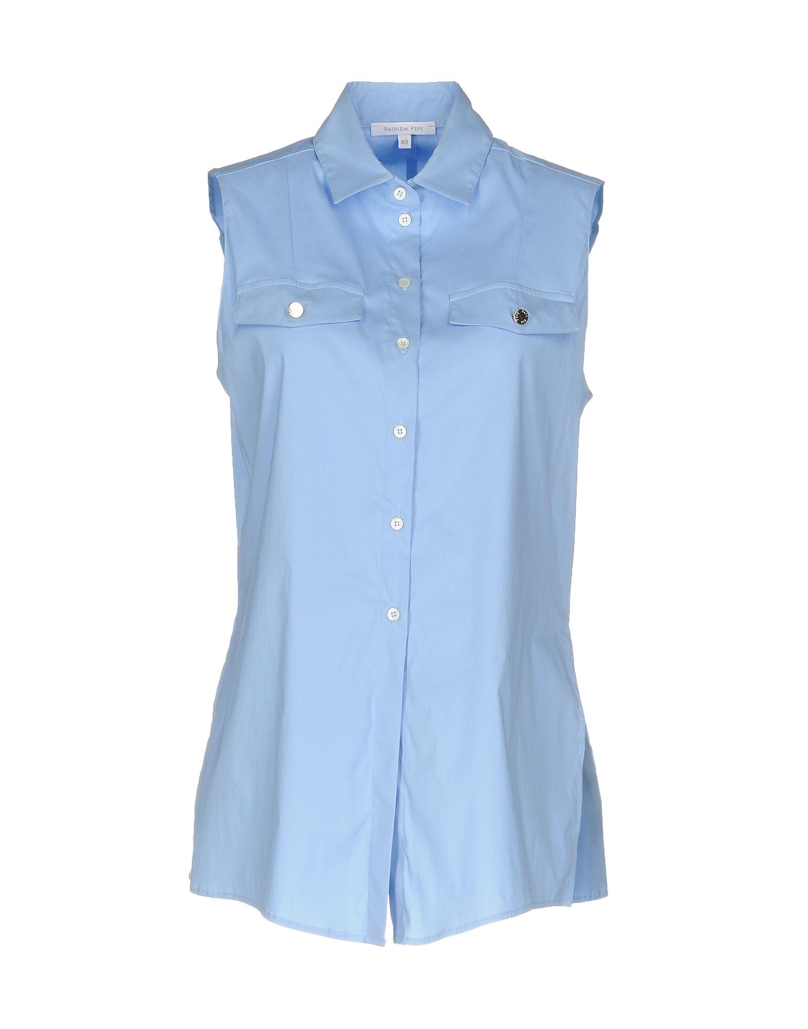 PATRIZIA PEPE Damen Hemd Farbe Himmelblau Größe 3