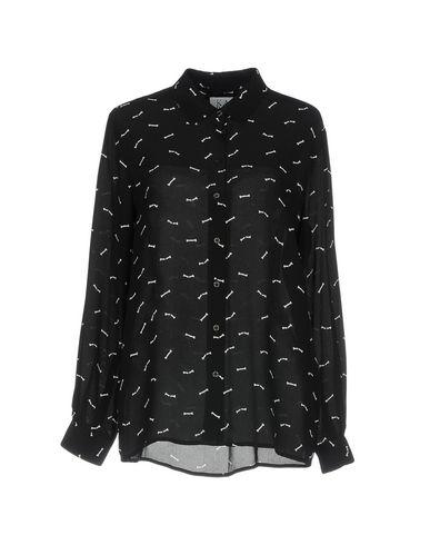 ZOE KARSSEN レディース シャツ ブラック S シルク 100%