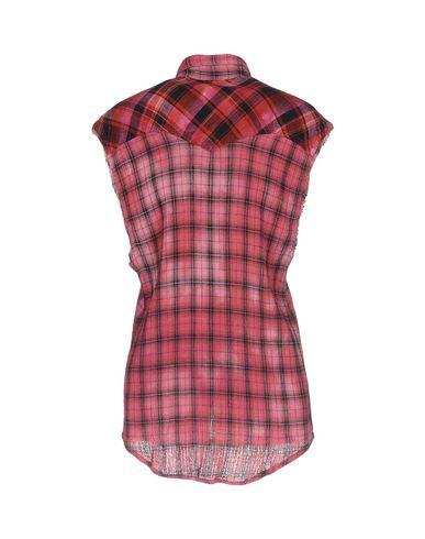 Фото 2 - Pубашка красного цвета