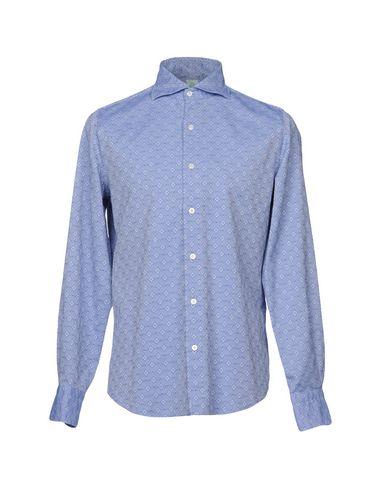 Фото - Pубашка от FINAMORE 1925 синего цвета