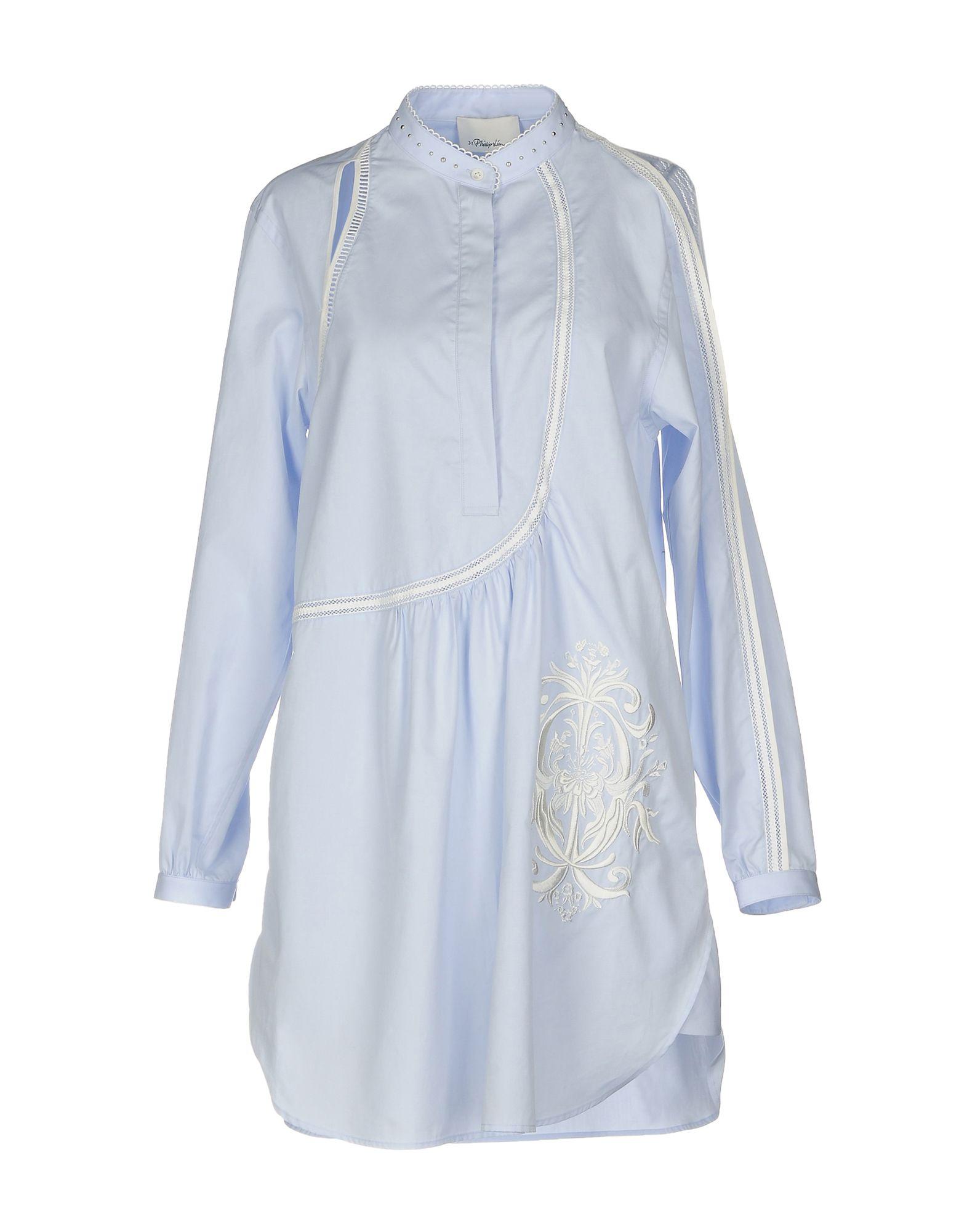 3.1 PHILLIP LIM Короткое платье цена 2017