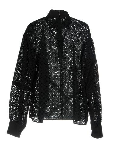 Фото 2 - Женскую блузку MSGM черного цвета